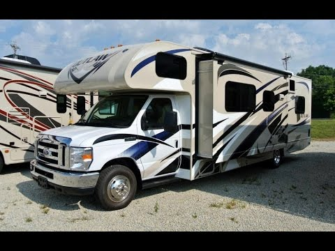 2015 thor motor coach outlaw 29h class c toy hauler for Motor home toy hauler