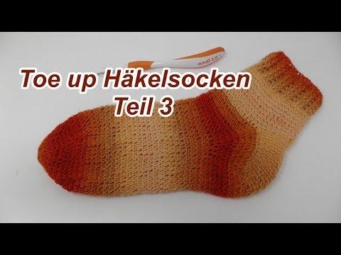 Socken Häkeln Einfach Toe Up Mit Year Socks Von Veronika Hug Teil 3