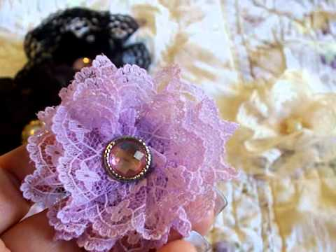 Handmade Flowers with the Lace I Sell
