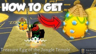 HOW TO GET THE TREASURE EGG OF THE JUNGLE TEMPLE! (Roblox Egg Hunt 2018)