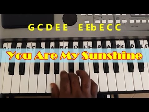 You Are My Sunshine Easy Piano Keyboard Tutorial (Right Hand)