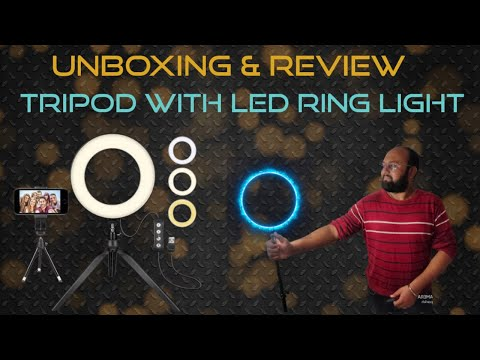 Unboxing and Review SHYLOC 18 Inches Big LED Ring Light with Tripod