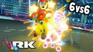 MARIO KART 8 DELUXE COMPETITIVO: RK vs BW | 6vs6 CLAN WAR | Nintendo Switch