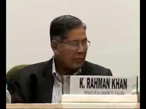 Mr. K Rahman Khan, Minority Affairs Minister, addresses National Editors' Conference-part1