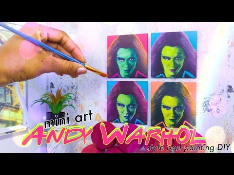 DIY - How To Make: Andy Warhol Inspired Miniature 1:6th Scale Art | Real Paintings