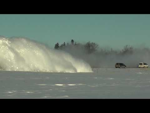 Thumbnail: RAILREEL AWESOME Ontario Southland RailwaySnow Plow Run Feb 3 2011