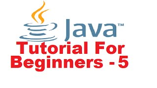 Java Tutorial For Beginners 5 - Getting User Input using Java thumbnail