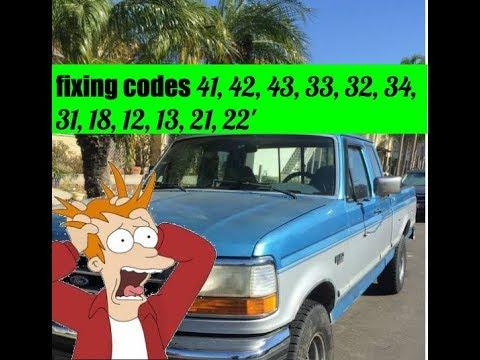 Diagnosing 1992 Ford F-150 5.0L (code 41 ,42, 33, 21, 22, 18)