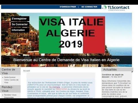 rdv visa italie tls alg rie 2018 youtube. Black Bedroom Furniture Sets. Home Design Ideas