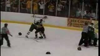 NMU vs MTU Hockey Fight