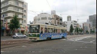 広島電鉄800形813号『ひろでんひこぼしごう』千田車庫入庫