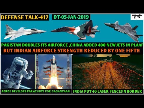 Indian Defence News:IAF fighter strength reduced by 1/5th,DRDO Laser Fence in border,ADRDE parachute