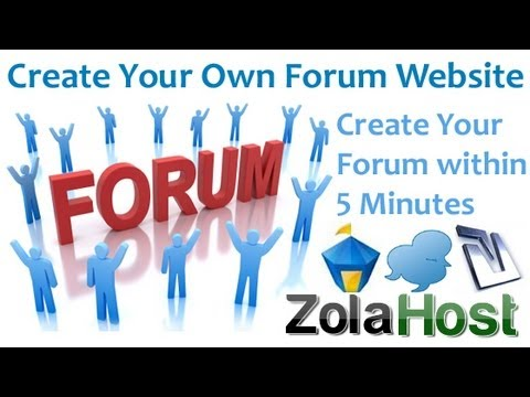 How To Create A Forum Website