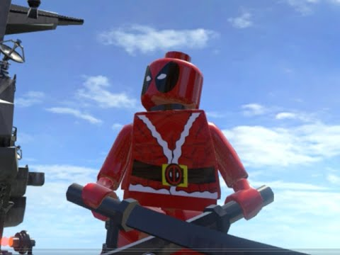 lego marvel superheroes santa deadpool free roam