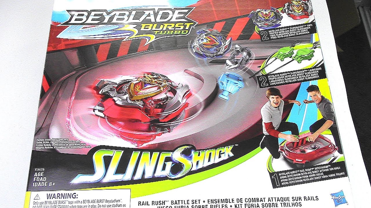 NEW SLINGSHOCK RAIL RUSH BATTLE SET!! Beyblade Burst Turbo | Hasbro