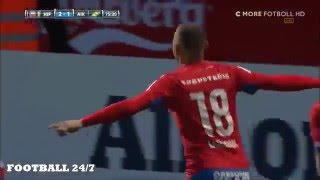 Jordan Larsson Brilliant Freekick Vs AIK