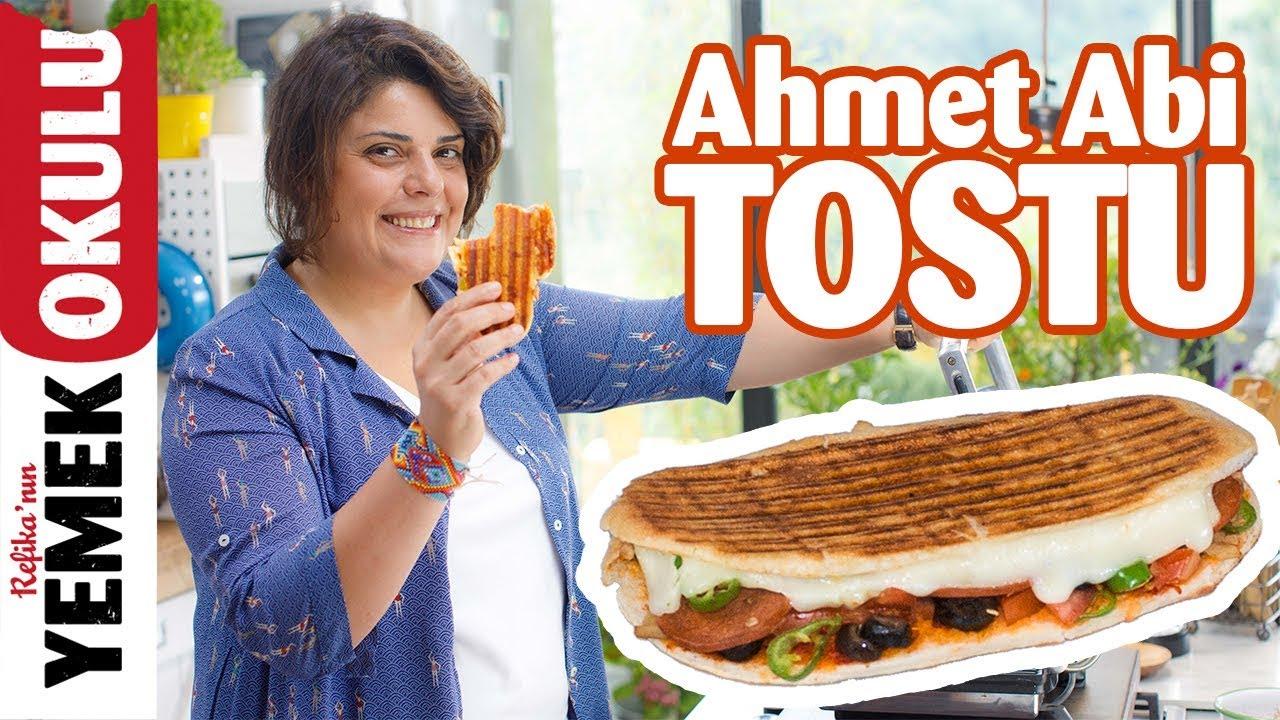 Ahmet Abi Tostu Yapımı | Hellimli, Domatesli Tost Tarifi