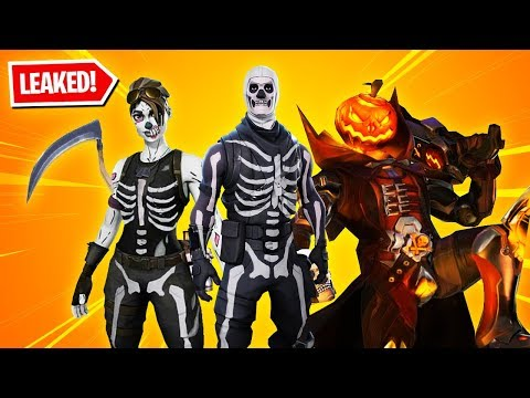 All 13 New HALLOWEEN SKINS in Fortnite! (Skull Trooper, Skull Ranger, Evil Pumpkin & more)