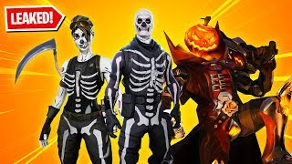 All 13 New HALLOWEEN SKINS in Fortnite! (Skull Trooper, Skull Ranger, Pumpkin & more)