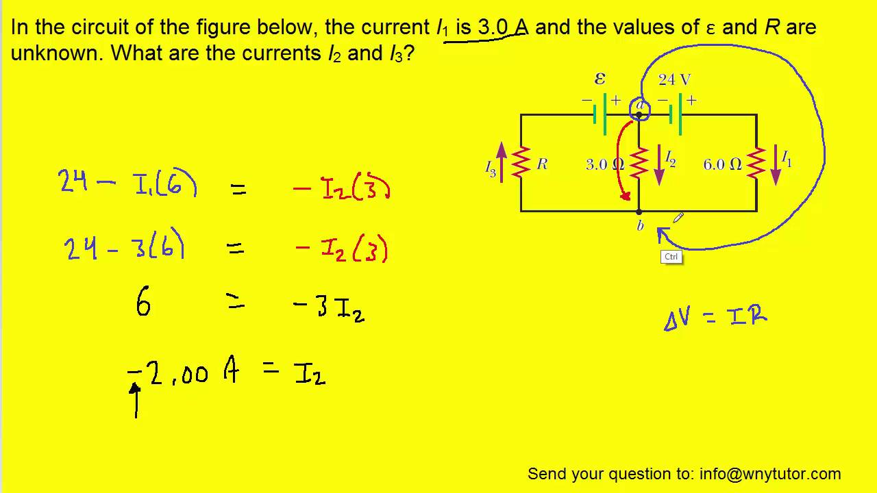 in the circuit of the figure below, the current i1 is 3 0 a and the values of � and r are unknown parallel circuit diagram for kids electrically connected? date why or
