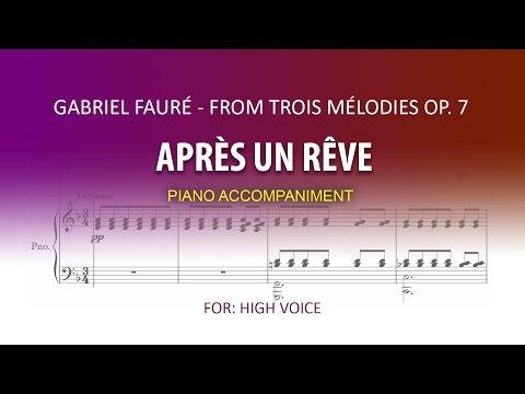 Après un Rêve / Karaoke piano / Gabriel Fauré / HIGH VOICE