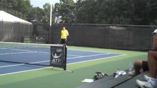 John Isner Practicing Serves Before Semifinals Legg Mason 2009