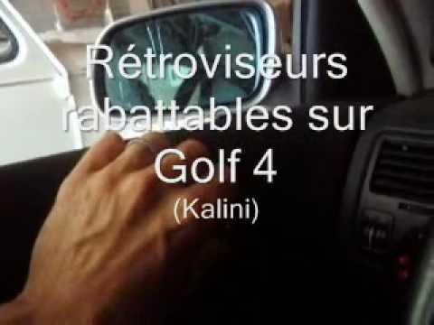 R tro rabattables lectriquement sur golf 4 youtube for Retroviseur interieur golf 4