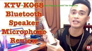 ktv k068 bluetooth speaker microphone review by bryan magsayo