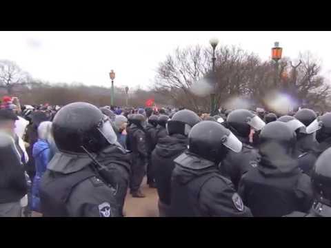 Акция протеста на Площади Восстания в СПБ