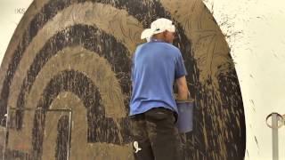 RICHARD LONG - WALL WORK - MUSEUM KURHAUS KLEVE