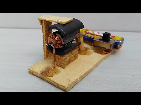 Faça seu próprio MOTOR com madeira e cola