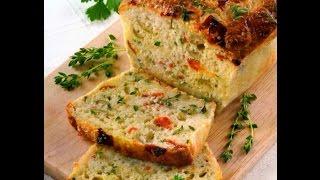 Коллекция рецептов-Хлеб с оливками и пармезаном