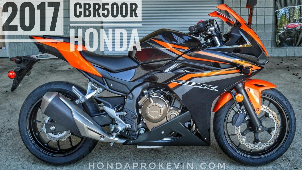 2017 Honda CBR500R Review of Specs   CBR Sport Bike / Motorcycle Walk-Around Video   Orange ...