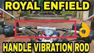 ROYAL ENFIELD HANDLE VIBRATION REDUCTION ROD | BIKE MODIFICATION | JD VLOGS DELHI