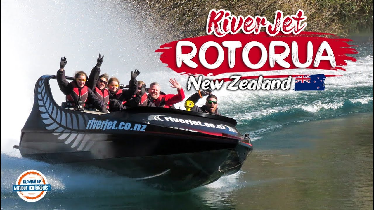 Jet Boating Rotorua Taupo New Zealand 🇳🇿 Best Places To Visit In New Zealand   197 Countries, 3 Kids