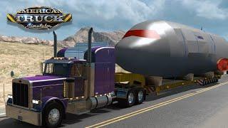American Truck Simulator - Airbus 380 Trailer Mod Heavy Haul!
