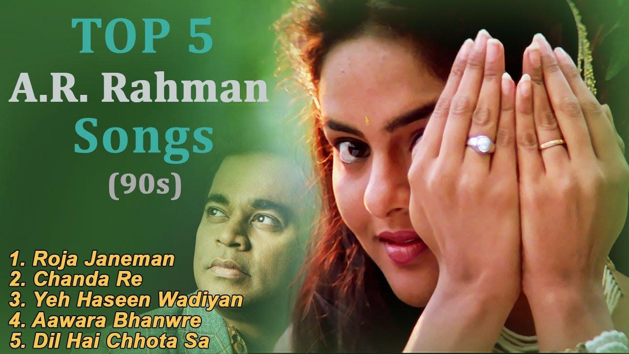 A.R. Rahman Top 90s Songs in 4K - ए. आर. रहमान के 90s के गाने - Bollywood 4K Songs