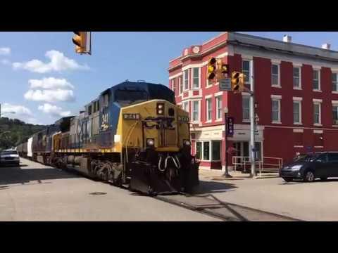 3 CSX Street Running Trains And High Railer!  Saint Marys West Virginia!