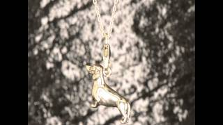 925 Sterling Silver Dachshund Charm Pendant Dog Hound Canine Puppy