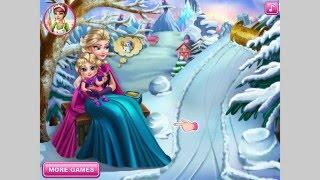 NEW мультик онлайн для девочек—Эльза и малышка—Игры для детей