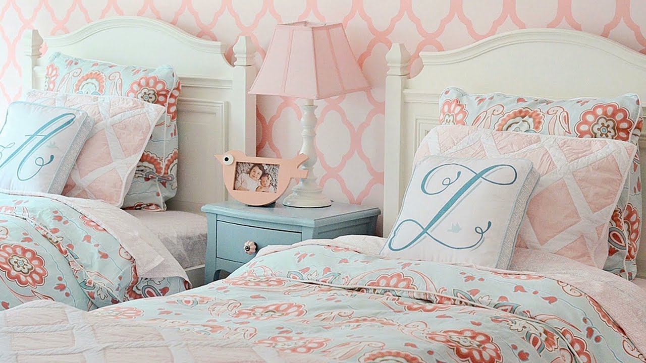 Twin Bed Bedroom Decorating Ideas From Nursery To Big Girl Room For Two Sisters Youtube