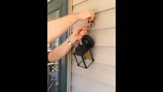 Tiny Task: Replacing porch light fixture Pt2