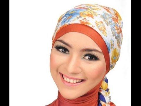 ... Empat untuk Wajah Bulat cara memakai jilbab segi empat paris modern