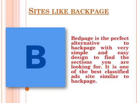 Alternative To Backpage Sites Like Backpage Bedpage