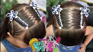 Peinados Infantiles Recogido Para Ninas Decorado Con Cintas Y