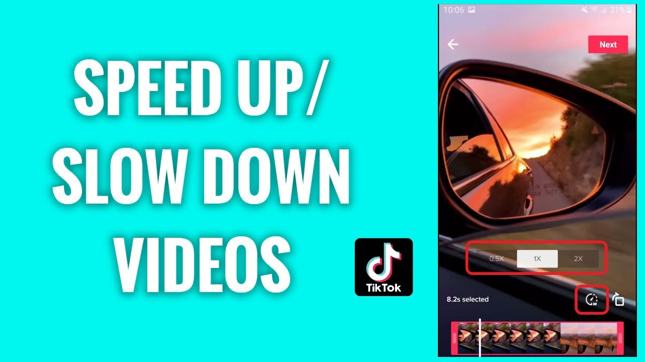 How To Speed Up And Slow Down Your Tiktok Videos Youtube