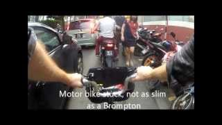 Brompton bicycle in Kuala Lumpur - very useful and fast