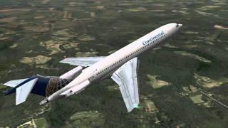 x plane continental 727 kchm to kcle