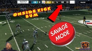 Glitch Defense Makes Onside Kick Bum Rage Madden 18 Online Ranked Match He Goes Savage Mode