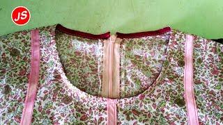 Menjahit Bisban Pada Leher Baju 2